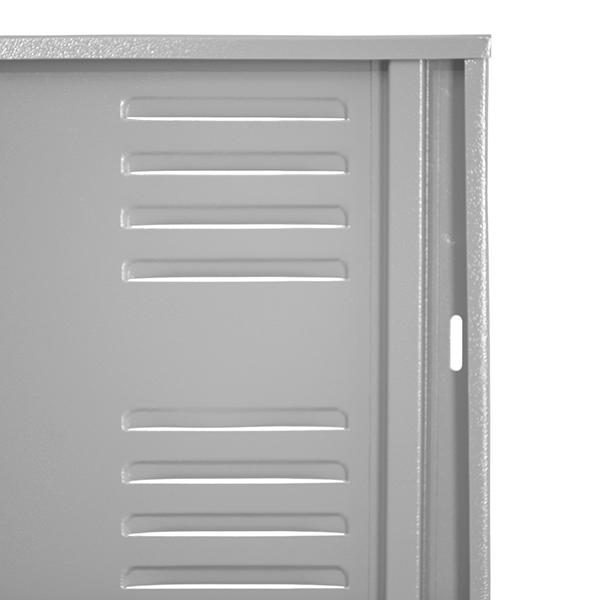 B6 Locker Estandar Filer Metálico 5 Puertas Color Gris LOCC-5P37-GR Refuerzo de Puerta-600×600