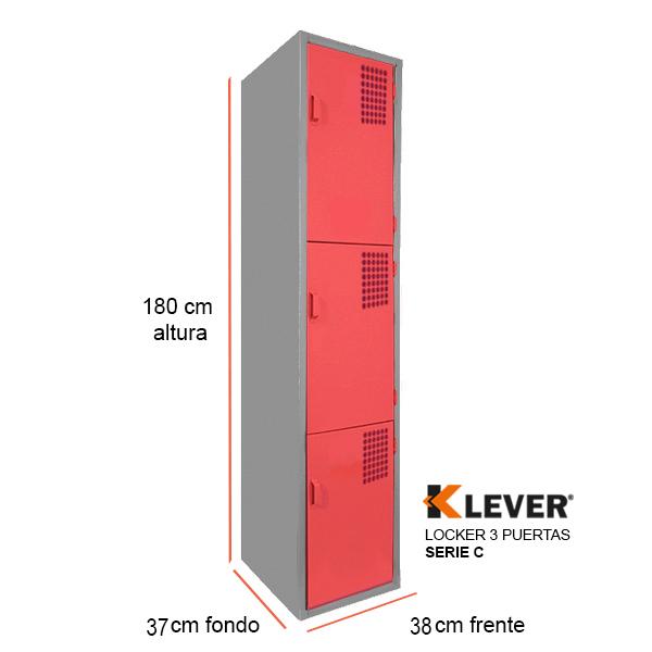locker-3-puertas-serie-c-rojo