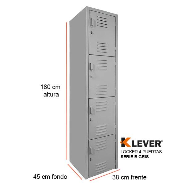 locker-4-puertas-serie-b-gris