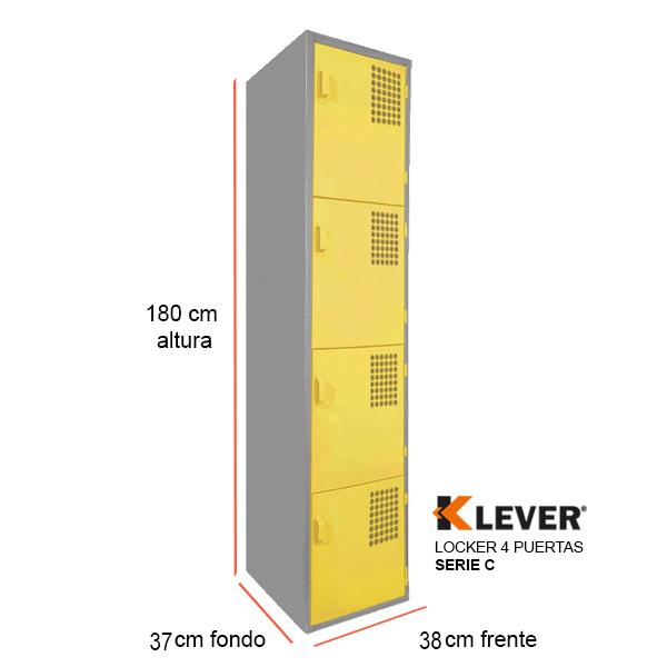 locker-4-puertas-serie-c-amarillo