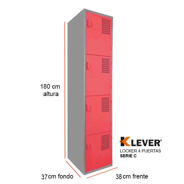 locker-4-puertas-serie-c-rojo