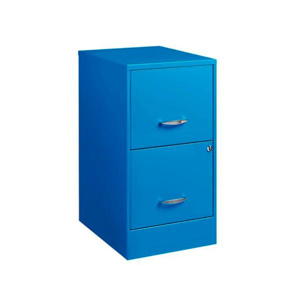 archivero metalico 2 gavetas azul